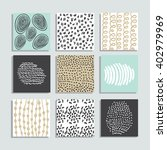 set of 9 creative pastel color... | Shutterstock .eps vector #402979969