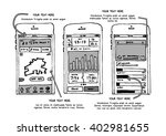 phone ui wire frame