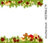 christmas card background... | Shutterstock . vector #402986179
