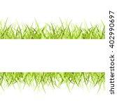 green grass frame isolated on... | Shutterstock . vector #402990697
