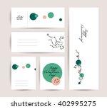 vector hand drawn card.... | Shutterstock .eps vector #402995275