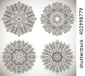 set of mandalas coloring... | Shutterstock .eps vector #402998779