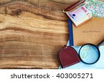 travel accessories .... | Shutterstock . vector #403005271