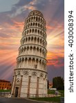 leaning tower of pisa | Shutterstock . vector #403008394