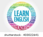 learn english word cloud ... | Shutterstock .eps vector #403022641