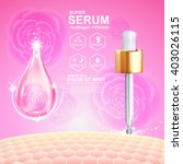 serum drop and vitamin beauty... | Shutterstock .eps vector #403026115