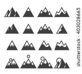 mountain icons set | Shutterstock .eps vector #403028665
