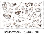 hand drawn ink sketches icons... | Shutterstock .eps vector #403032781