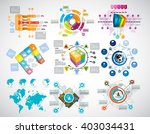 collection of infographic... | Shutterstock .eps vector #403034431