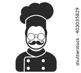 chef cook icon   man with... | Shutterstock .eps vector #403035829