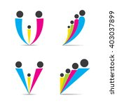 colorful family symbol design ... | Shutterstock .eps vector #403037899