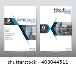 Blue annual report brochure flyer design template vector, Leaflet cover presentation abstract flat background, layout in A4 size | Shutterstock vector #403044511