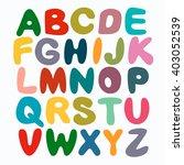 the english alphabet multi... | Shutterstock .eps vector #403052539