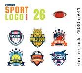sport logo design set | Shutterstock .eps vector #403055641