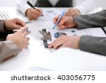 group of business people at the ... | Shutterstock . vector #403056775