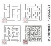 set of mazes 5 | Shutterstock .eps vector #403063735
