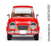 retro car red in 60s style... | Shutterstock . vector #403076335