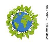 green planet earth concept.... | Shutterstock .eps vector #403077409