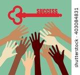 group of diversity hand... | Shutterstock .eps vector #403084831
