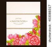 romantic invitation. wedding ... | Shutterstock .eps vector #403088317