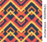 ethnic pattern in bright red ... | Shutterstock .eps vector #403090621