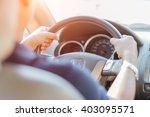 man driving car | Shutterstock . vector #403095571