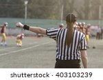 female american football... | Shutterstock . vector #403103239