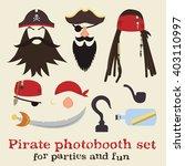 vector set of pirate elements.... | Shutterstock .eps vector #403110997