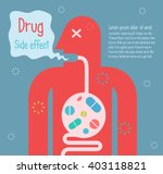 man take medicine too much.... | Shutterstock .eps vector #403118821