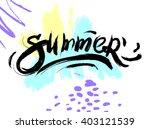 summer watercolor design....   Shutterstock .eps vector #403121539