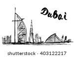 burj al arab jumeirah and... | Shutterstock .eps vector #403122217