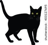 Stock vector cat vector 403127695