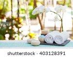 spa and wellness massage... | Shutterstock . vector #403128391