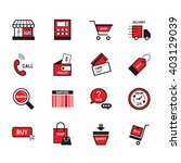 e commers element vector icon... | Shutterstock .eps vector #403129039