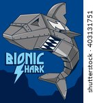 robot shark vector design | Shutterstock .eps vector #403131751