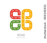 vector multicolor road logo ... | Shutterstock .eps vector #403140331