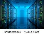 server room in data center.... | Shutterstock . vector #403154125