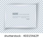 frame on blank sheet of paper.... | Shutterstock .eps vector #403154629