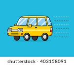 yellow car illustration. | Shutterstock .eps vector #403158091