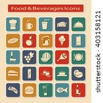 symbols set of food   beverages ... | Shutterstock .eps vector #403158121