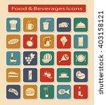 symbols set of food   beverages ... | Shutterstock .eps vector #403158121