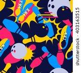 vector bowling seamless pattern.... | Shutterstock .eps vector #403163515