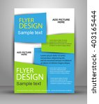 flyer  brochure or magazine... | Shutterstock .eps vector #403165444