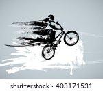 boy with bmx  editable vector