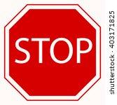 vector illustration of stop... | Shutterstock .eps vector #403171825