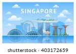 singapore city skyline. vector... | Shutterstock .eps vector #403172659