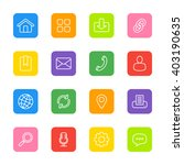 white line web icon set on... | Shutterstock .eps vector #403190635