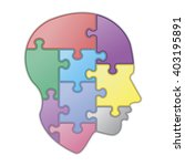 Stock vector puzzle of human mind 403195891