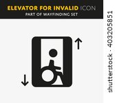 elevator icon.  | Shutterstock .eps vector #403205851