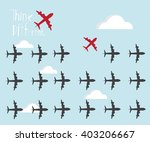 red air plane going different ... | Shutterstock .eps vector #403206667